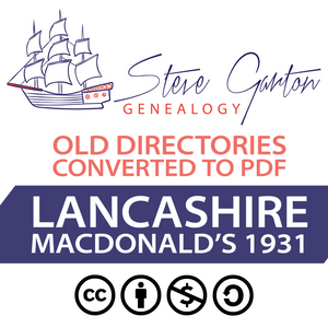 Macdonald's 1931 Directory of Lancashire on CD