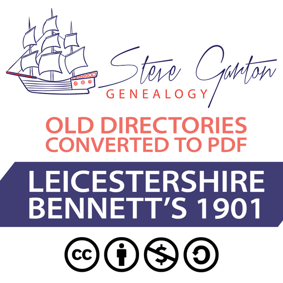 Bennett's 1901 Directory of Leicestershire on CD