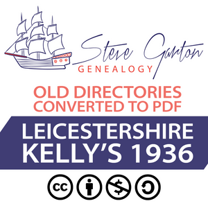 Kelly's 1936 Directory of Leicestershire Download
