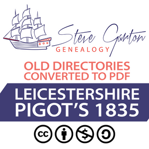 Pigot's 1835 Directory of Leicestershire on CD