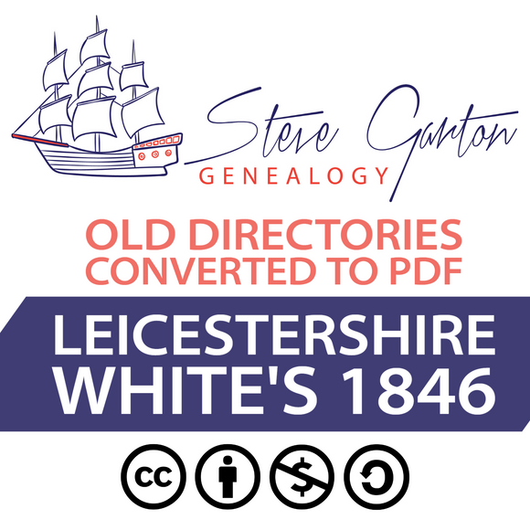 White's 1846 Directory of Leicestershire on CD