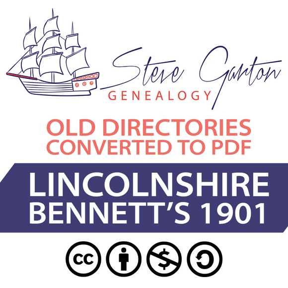 Bennett's 1901 Directory of Lincolnshire on CD