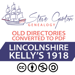 Kelly's 1918 Directory of Lincolnshire on CD