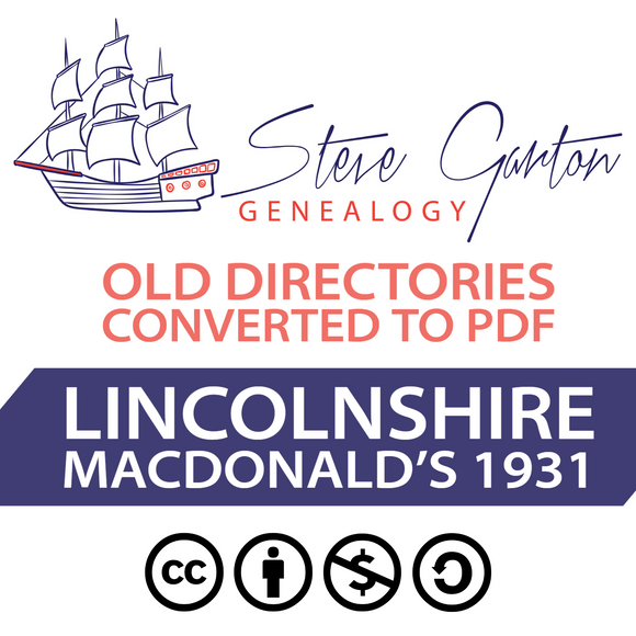 Macdonald's 1931 Directory of Lincolnshire Download