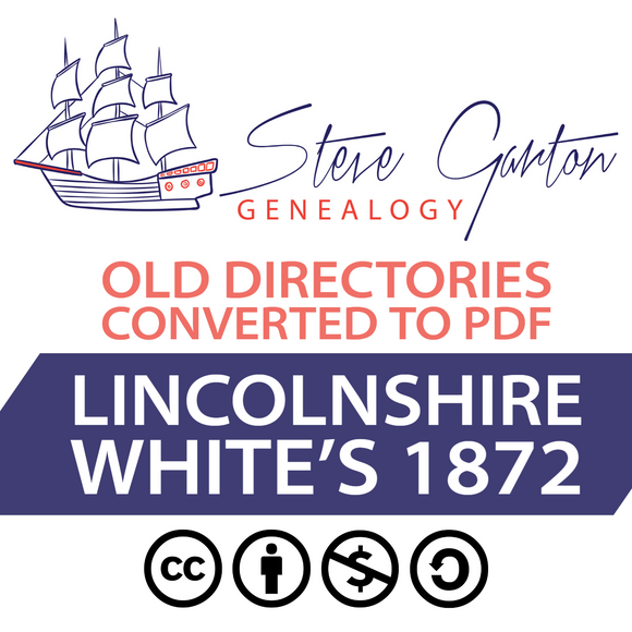 White's 1872 Directory of Lincolnshire Download