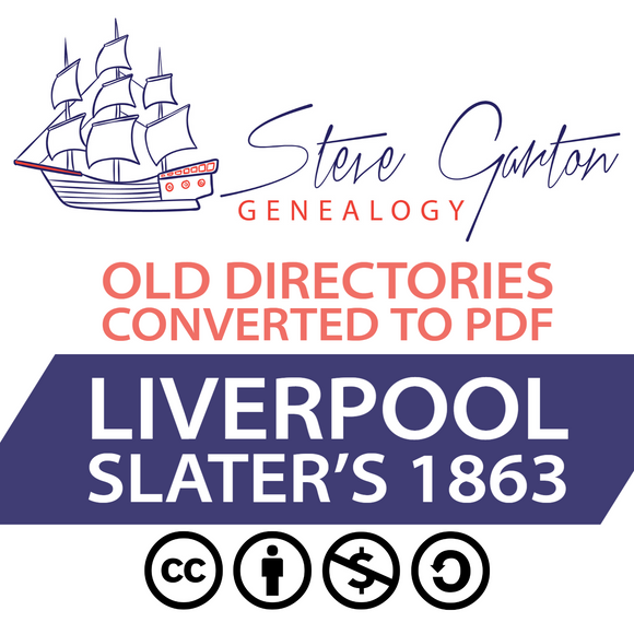 Slater's 1863 Directory of Liverpool Download