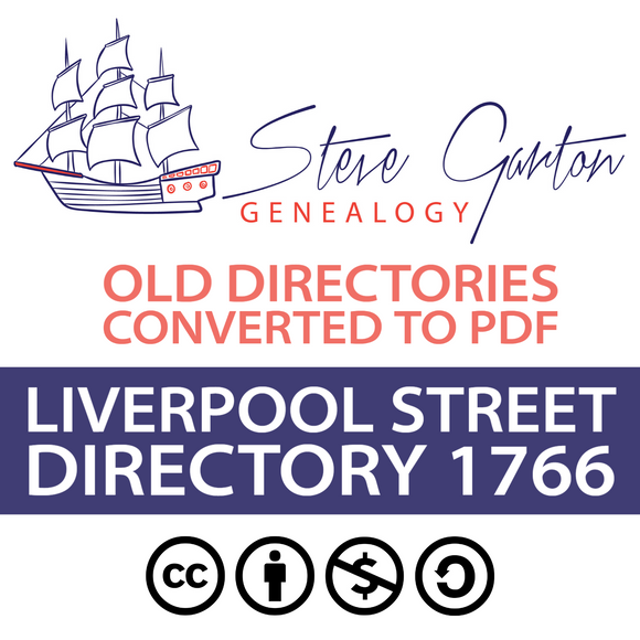 1766 Street Directory of Liverpool on CD