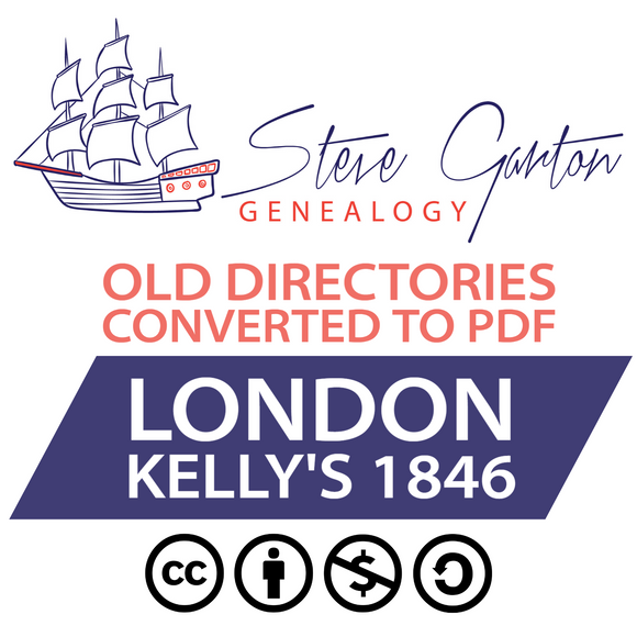 Kelly's 1846 Directory of London on CD