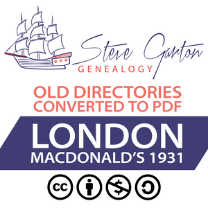 Macdonald's 1931 Directory of London Download