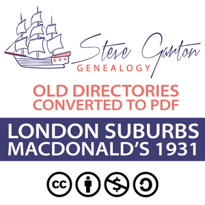Macdonald's 1931 Directory of London Suburbs on CD