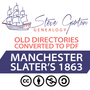 Slater's 1863 Directory of Manchester on CD
