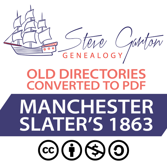 Slater's 1863 Directory of Manchester Download