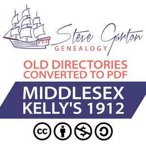 Kelly's 1912 Directory of Middlesex on CD
