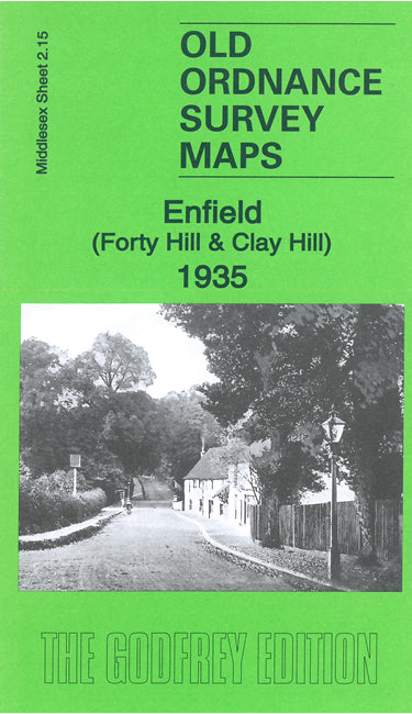 Enfield Forty Hill & Clay Hill 1935 - Middlesex Sheet 2.15