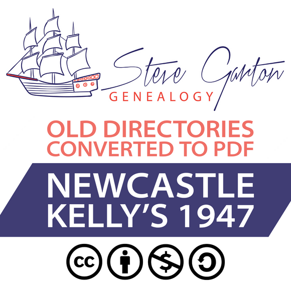 Kelly's 1947 Directory of Newcastle on CD - SG Genealogy
