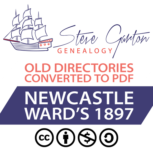Ward's 1897 Directory of Newcastle on CD - SG Genealogy