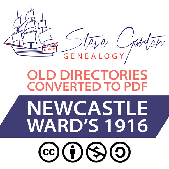 Ward's 1916 Directory of Newcastle on CD - SG Genealogy