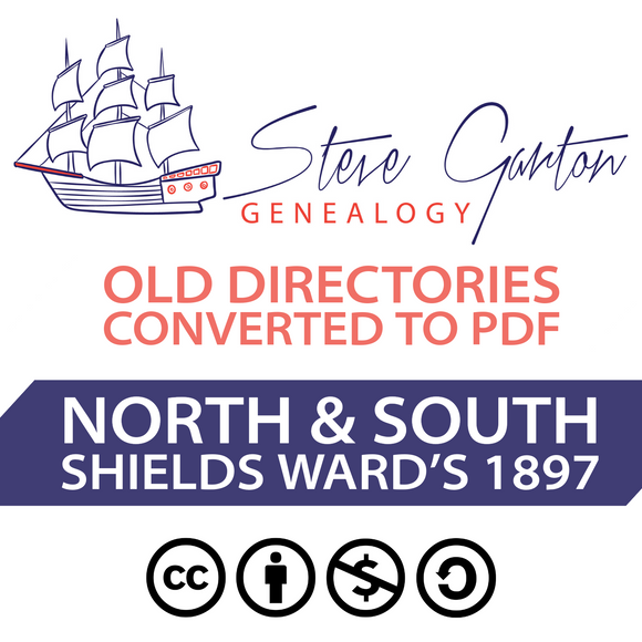 Ward's 1897 Directory of North & South Shields on CD - SG Genealogy