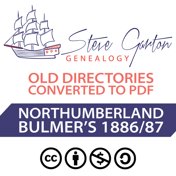 Bulmer's 1886/1887 Directory of Northumberland Download - SG Genealogy