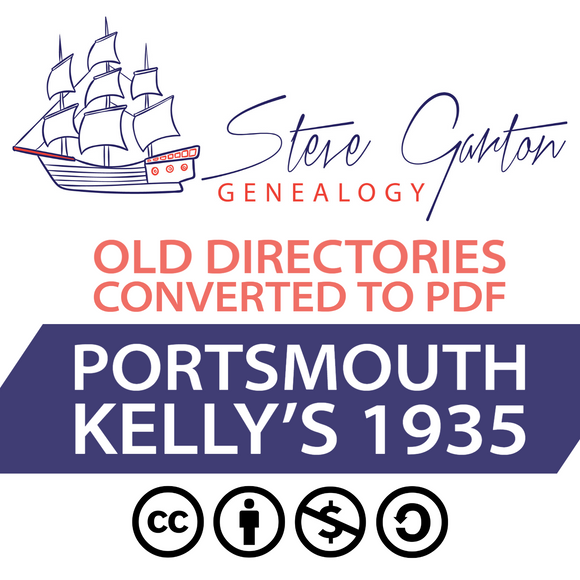 Kelly's 1935 Directory of Portsmouth on CD