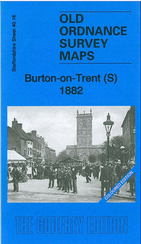 Burton on Trent South 1882 Coloured Edition - Staffordshire Sheet 40.16a