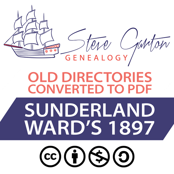Ward's 1897 Directory of Sunderland on CD - SG Genealogy
