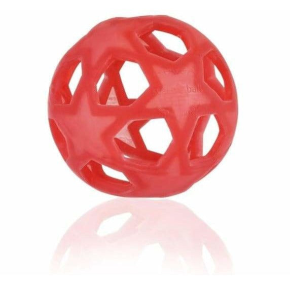 HEVEA Star Ball - Naturkautschuk (raspberry red / natur)