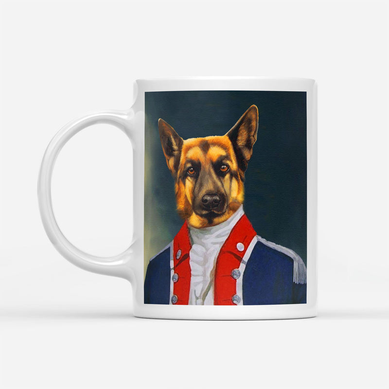 AIDE-DE-CAMP TO THE GENERAL - Custom Pet Portrait Mug - KutePaw