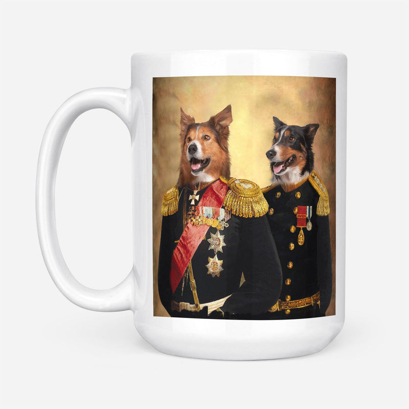 Brothers in Arms - Custom Pet Portrait Mug - KutePaw