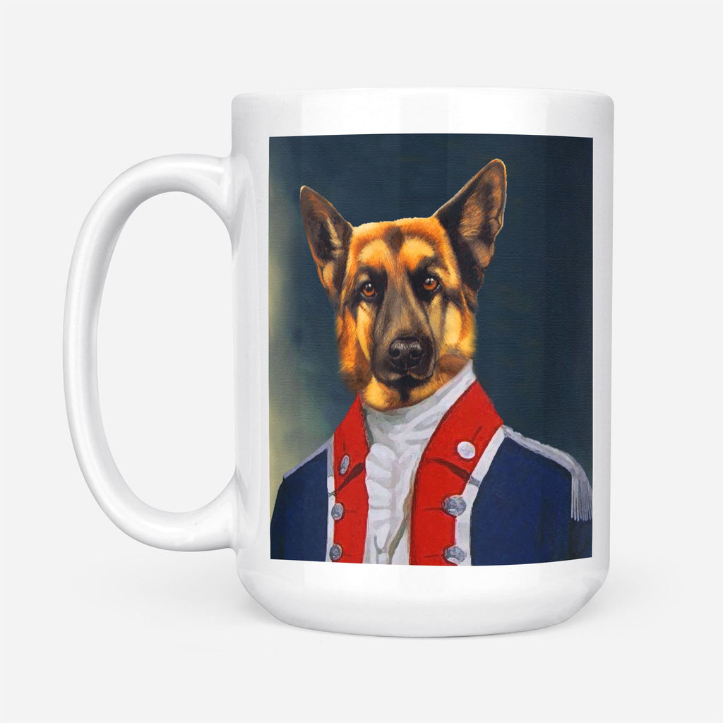 AIDE-DE-CAMP TO THE GENERAL - Personalized Pet Portrait Custom Mug Gift for Dog Cat Lovers