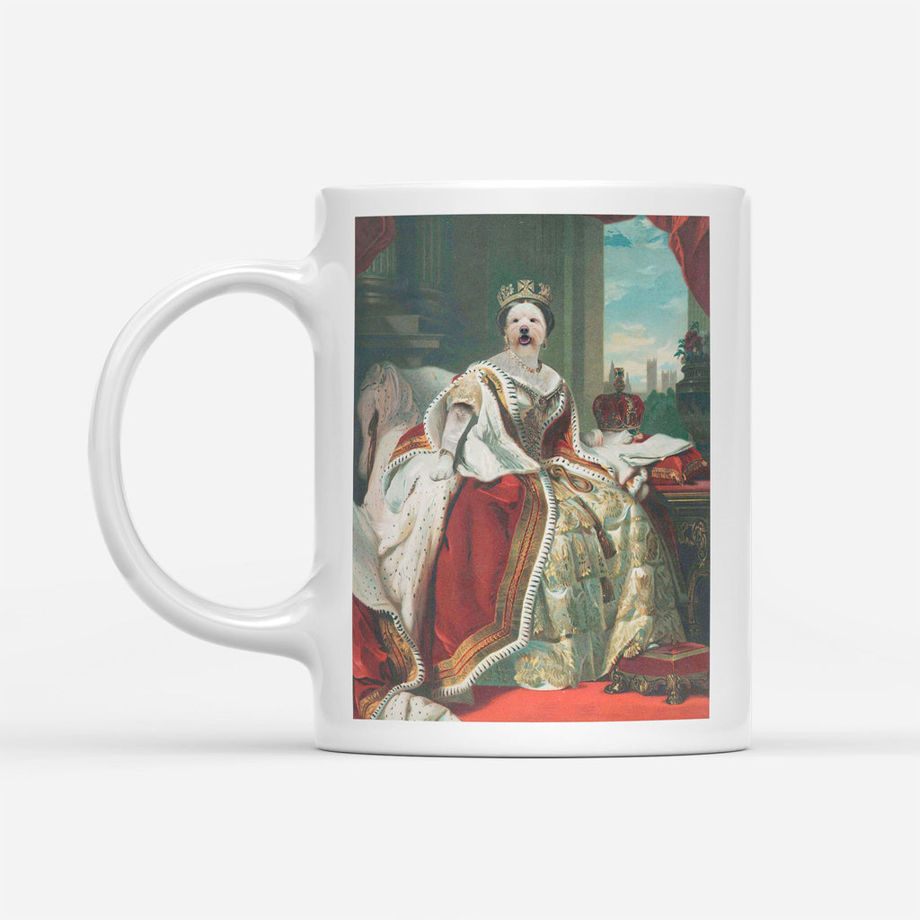 Queen Victoria - Personalized Pet Portrait Custom Mug Gift for Dog Cat Lovers