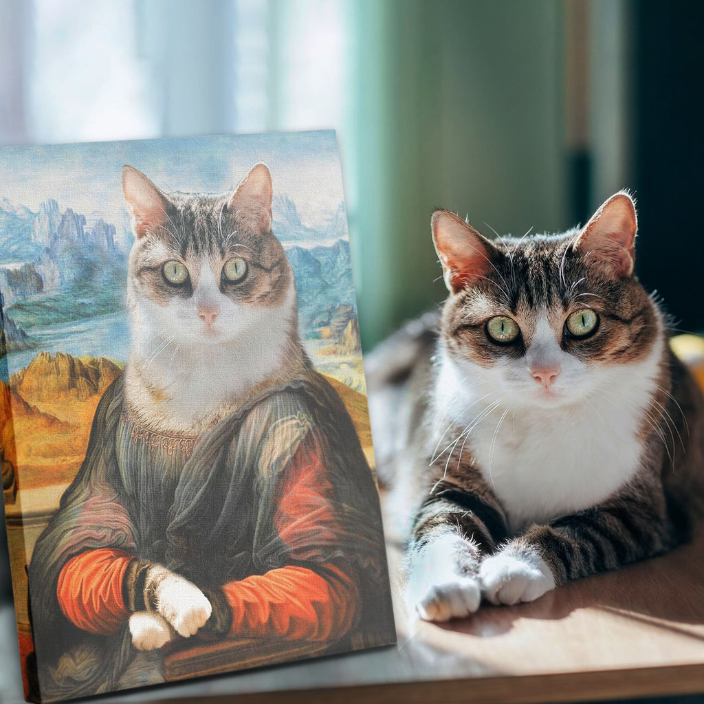 BONA LISA - Custom Pet Portrait Canvas - KutePaw
