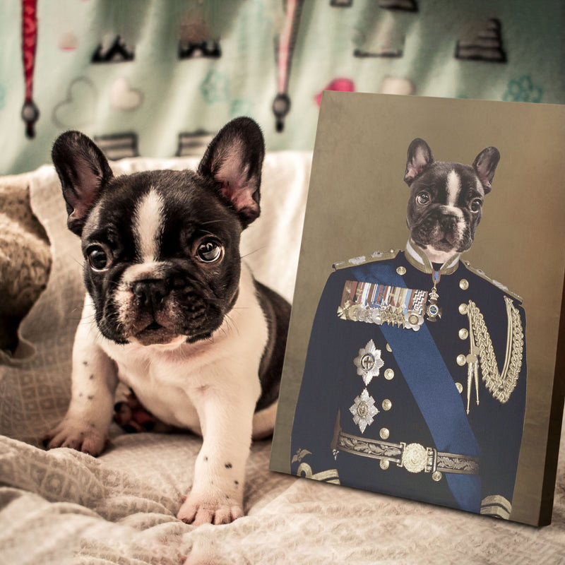 Custom Pet Portrait - Major General - Personalized Canvas - KutePaw