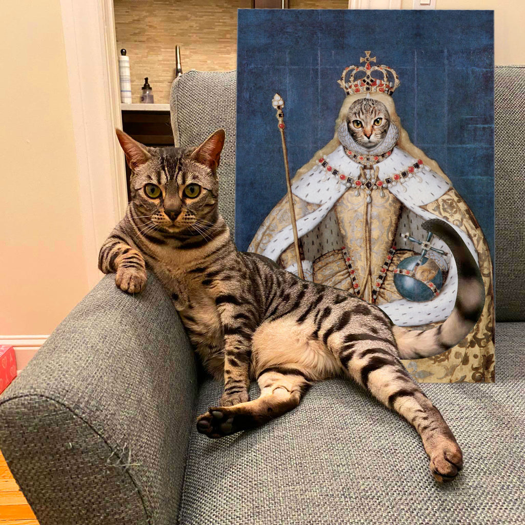 Custom Pet Portrait - Elizabeth I of England - Personalized Canvas - KutePaw