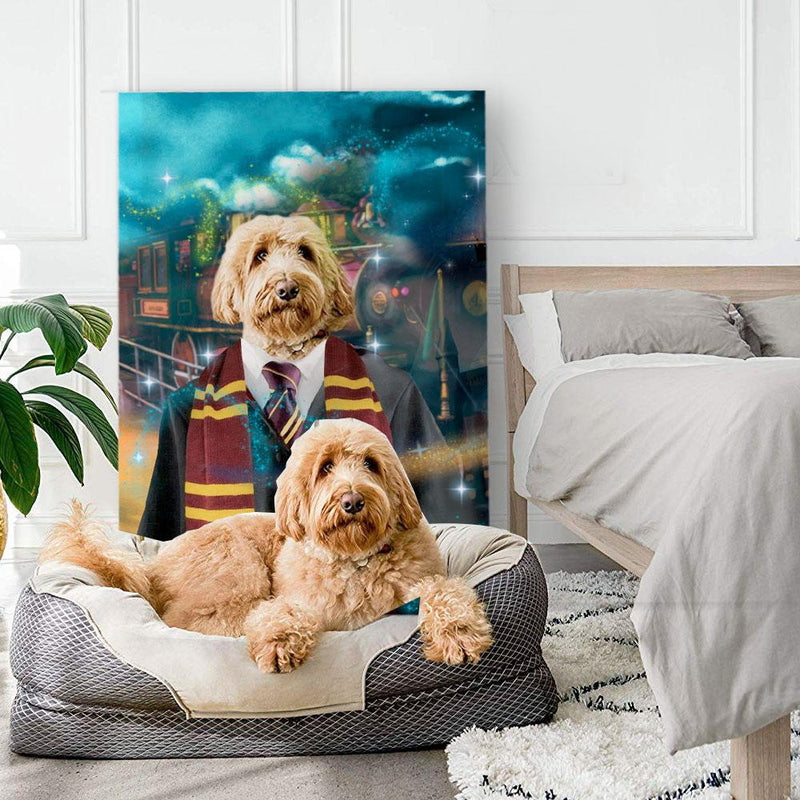 HAIRY PAWTER - Custom Pet Portrait Canvas - KutePaw