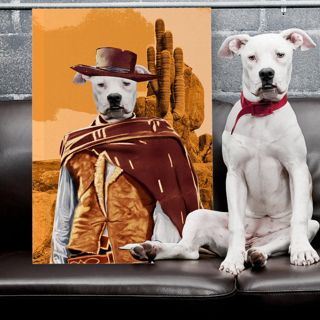 The Good The Bad The Ugly - Personalized Pet Portrait Poster Wall Art Custom Canvas Gift for Dog Cat Lovers