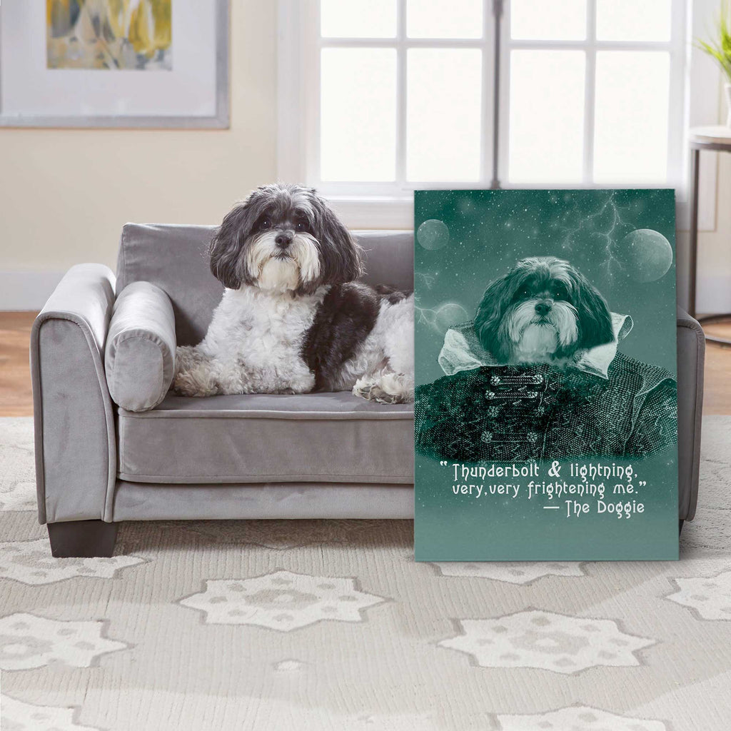 Custom Pet Portrait - Very Frightening Me - Personalized Canvas - KutePaw