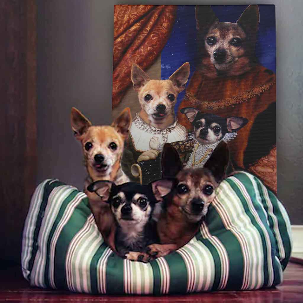 Royal Family with child - Personalized Pet Portrait Poster Wall Art Custom Canvas Gift for Dog Cat Lovers