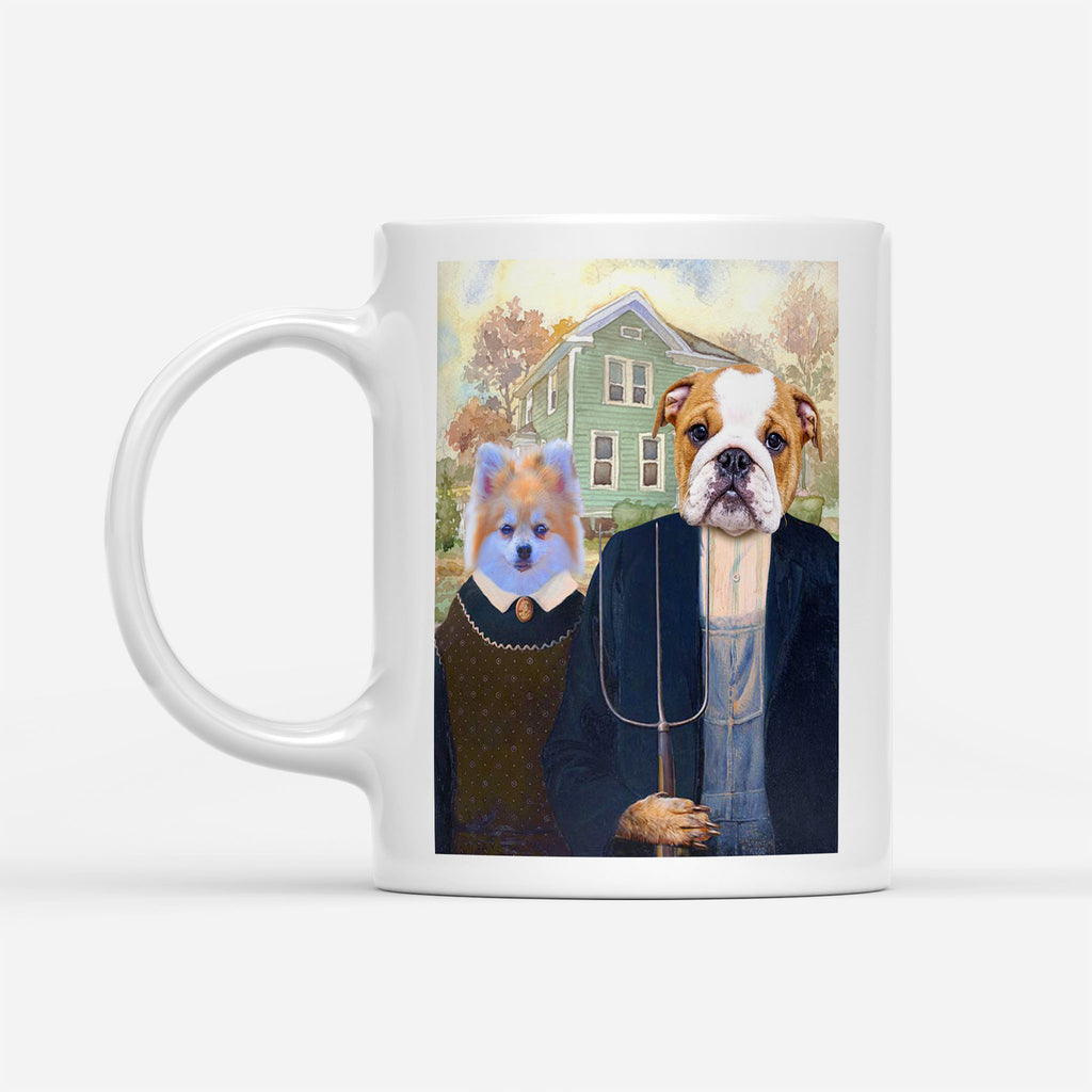 THE AMERICAN GOTHIC - Personalized Pet Portrait Custom Mug Gift for Dog Cat Lovers