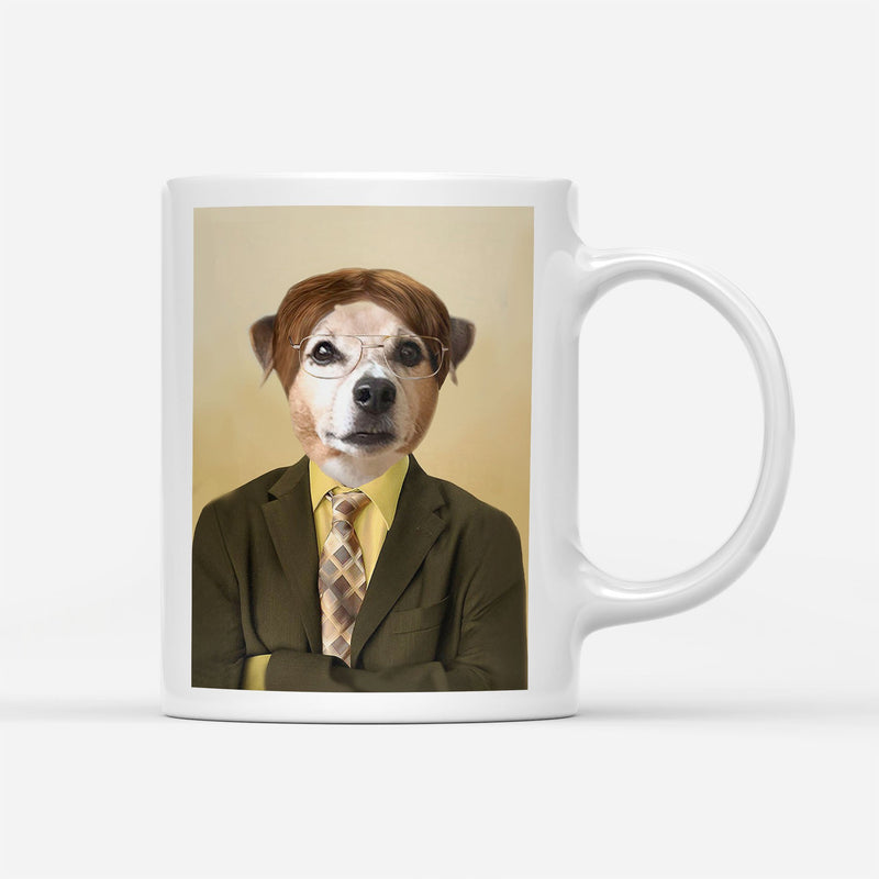 Dwight Woofer The Pawfice - Personalized Mug - KutePaw