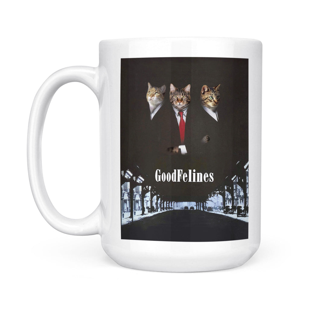 The GoodFelines - Personalized Pet Portrait Custom Mug Gift for Dog Cat Lovers