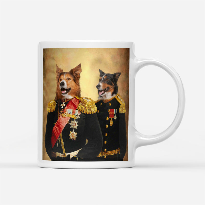 Custom Pet Portrait - Brothers in Arms - Personalized Mug - KutePaw