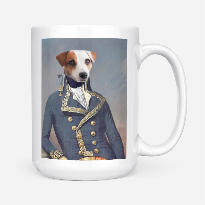 Custom Pet Portrait - Colonial Military Civil War - Personalized Mug - KutePaw