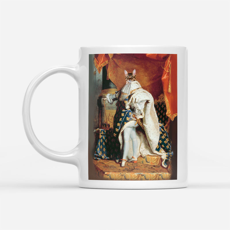 Custom Pet Portrait - Louis XIV of France - Personalized Mug - KutePaw