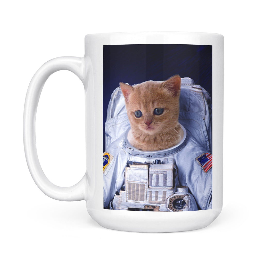 The Astronaut - Personalized Pet Portrait Custom Mug Gift for Dog Cat Lovers
