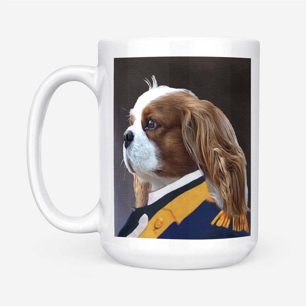 BRIGADIER GENERAL - Personalized Pet Portrait Custom Mug Gift for Dog Cat Lovers