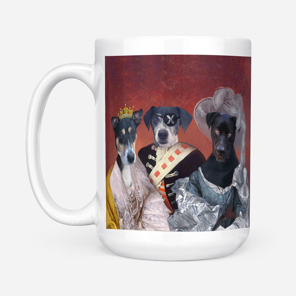 ROYAL FAMILY - Personalized Pet Portrait Custom Mug Gift for Dog Cat Lovers