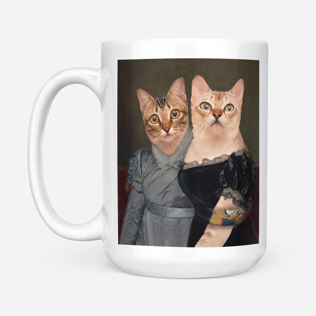 THE SISTERS VICTORIAN ERA - Personalized Pet Portrait Custom Mug Gift for Dog Cat Lovers