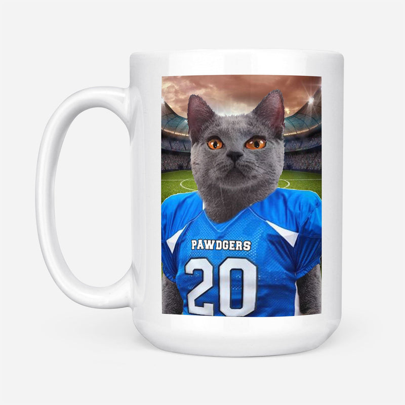 Football Player - Custom Pet Portrait Mug - KutePaw