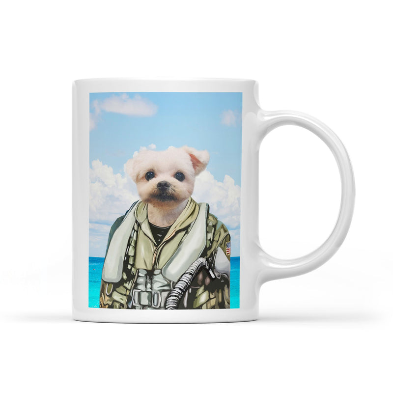 Fighter Pilot - Personalized Mug - KutePaw